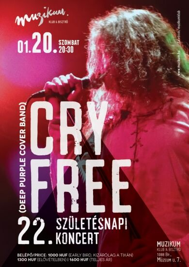 Cry Free @Muzikum