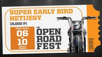 Hoppá, az Open Road Fest is meglépte…