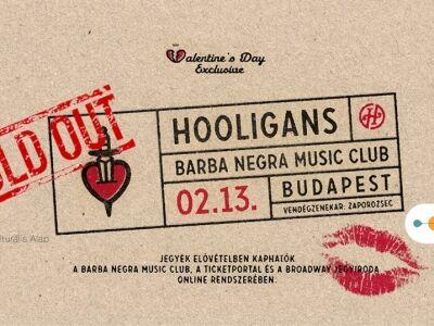 Teltházas koncerttel ünnepli a Valentin napot a Hooligans