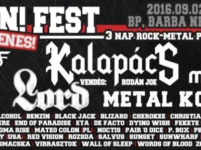 Rock On! Fest 2016 - ingyenes, 3 napos nagyszabású rock / metal fesztivál