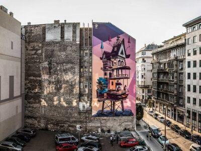 Elindult az idei tűzfalfestő fesztivál Budapesten