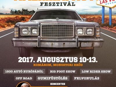 Benzinfaló szörnyetegek a Monostori erődben, avagy 16. Nemzetközi Amerikai Autó Fesztivál