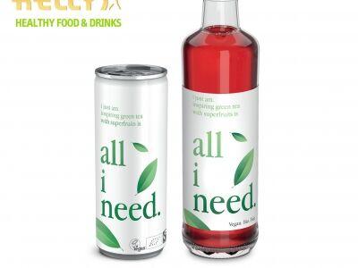 All I need bio, vegán zöldtea szupergyümölcsökkel