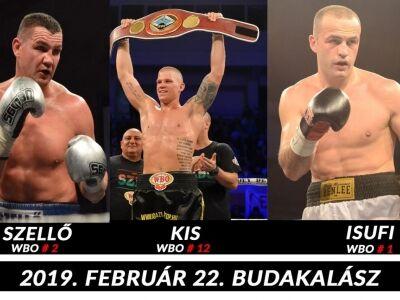 3 WBO világranglistás öklöző