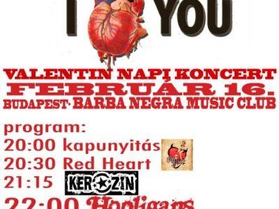 Valentin-napi Hooligans-koncert a Barba Negrában