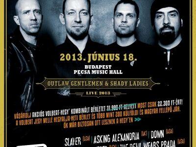 Volbeat-Hegyalja kombó bérlet