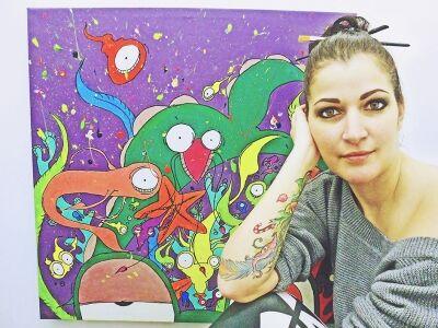 Kőteleky Éva Aywee festőművész kiállítása @ Pirítós