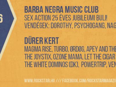 Rockstar 6. Születésnapi Party - 2 helyszín, 14 zenekar