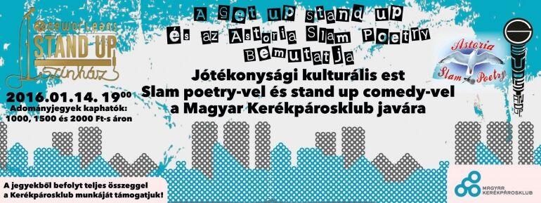 A Get up Stand up és az Astoria Slam Poetry jótékonysági estje