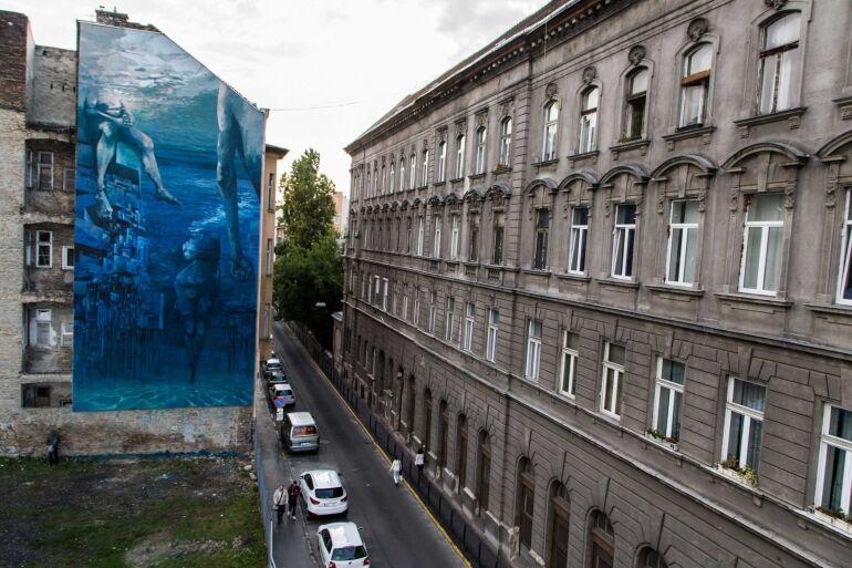 Lengyelek festettek tűzfalra Budapesten - Színes Város Budapest Fesztivál