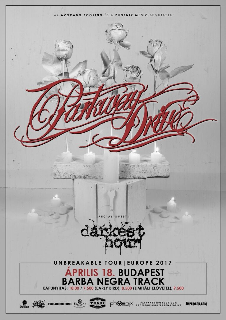 A Phoenix Music Hungary bemutatja: Parkway Drive (AUS), DARKEST HOUR (USA)