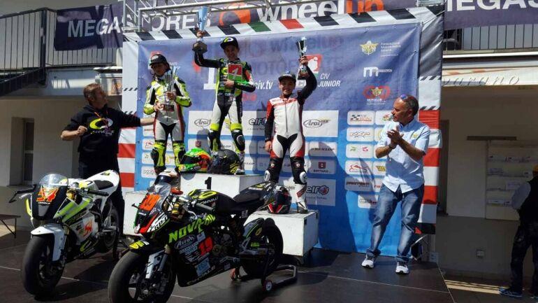 Átütő magyar siker a CIV OLASZ BAJNOKSÁG OHVALE Moto GP-0-ban