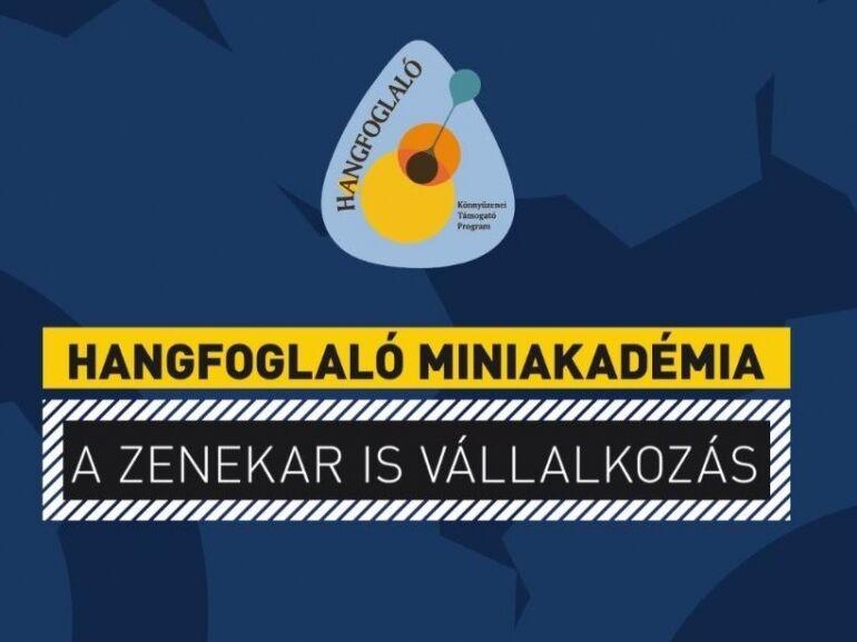 Hangfoglaló Miniakadémia: Zeneipari vállalkozás