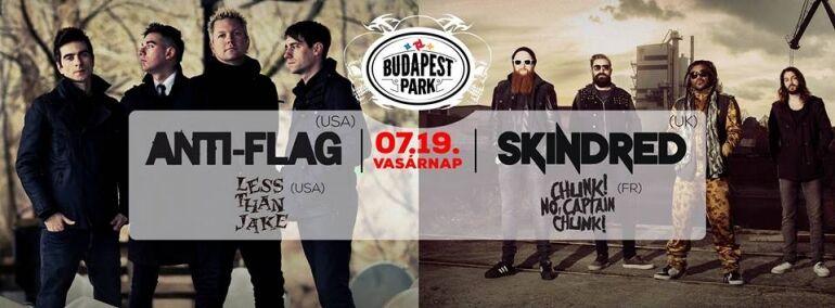 Anti-Flag, Skindred, Less Than Jake, Chunk! No, Captain Chunk! @ Budapest Park